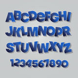 Vector English Alphabet Letters Royalty Free Stock Image
