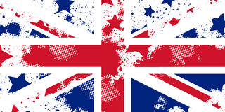 Vector English grunge flag. Union Jack. Using for decoration works Royalty Free Stock Image