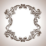 Vector engraving frame in antique style Royalty Free Stock Photos