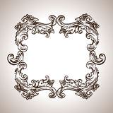 Vector engraving frame in antique style Stock Photography