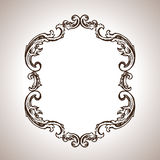 Vector engraving frame in antique style Stock Photos
