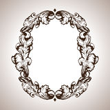 Vector engraving frame in antique style Stock Image