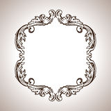 Vector engraving frame in antique style Royalty Free Stock Images