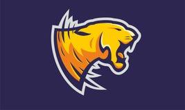 Vector enojado del esport de la mascota del tigre Fotos de archivo libres de regalías