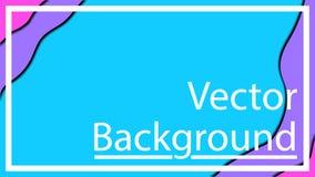 Vector Entwurf f?r Fahnendarstellungen, -flieger, -Poster und -einladungen Drei Farbeschablonen-Zusammenfassungshintergrund stock abbildung