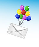 Vector envelope and balloons Stock Photo