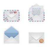 Vector envelope icon set Royalty Free Stock Photos