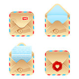 Vector envelope icon set Stock Photo