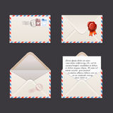 Vector envelope icon set Stock Image