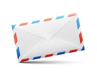 Vector envelope with red and blue stripes Royalty Free Stock Photos