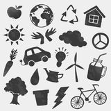 Vector environment icons shapes set royalty free illustration