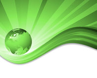 Vector environmental background with globe Stock Photography
