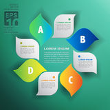 Vector environmental design trend - infographics with green leav Royalty Free Stock Photos