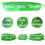 Vector environmental eco labels Royalty Free Stock Image