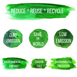 Vector environmental eco labels Royalty Free Stock Images