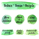 Vector environmental eco labels Stock Images
