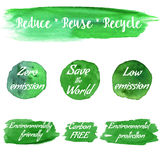 Vector environmental eco labels Royalty Free Stock Photo