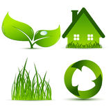 Vector environmental elements royalty free stock photos