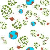 Vector environmental seamless bacground. Vector environmental design seamless bacground, wallpaper. People & nature royalty free illustration