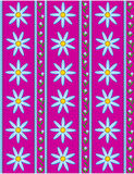 Vector Eps 10 Pink Wallpaper with Blue Flowers  Royalty Free Stock Photo