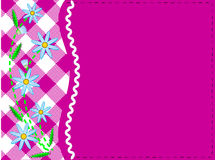 Vector Eps 8 Pink Copy Space with Gingham and Corn Royalty Free Stock Images