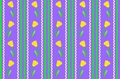 Vector Eps 8 Purper Behang met Gele Bloemen Royalty-vrije Stock Afbeelding