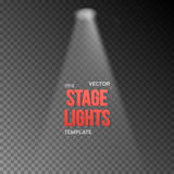 Vector EPS10 Bright Stage Light Effect. Stage Light Illuminating Stock Image