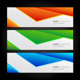 Collection banners modern, colorful background. Royalty Free Stock Photos