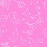 Vector EPS 10 del ejemplo del fondo del bebé Imágenes de archivo libres de regalías