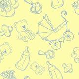 Vector EPS 10 del ejemplo del fondo del bebé Foto de archivo