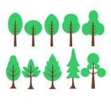 Árbol de la historieta Stock de ilustración