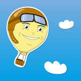 Vector EPS10 illustration cartoon hot air balloon Stock Photography