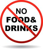 No foods and drinks allowed. Vector eps illustration on isolated white background - no foods and drinks allowed Royalty Free Stock Photography