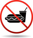 No foods and drinks allowed. Vector eps illustration on isolated white background - no foods and drinks allowed Royalty Free Stock Photos
