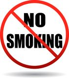No smoking text sign stock illustration
