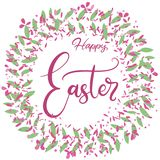 Vector EPS10 lettering illustration for happy easter stock illustration