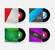 Set - vinyl with cover Stock Image