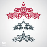 Vector eps8union symbol. Festive design element with stars, deco Stock Image