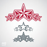 Vector eps8union symbol. Festive design element with stars, decorative luxury template. Corporate branding icons. Social concept theme emblems set Royalty Free Stock Photography
