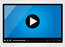 Video player for web, minimalistic design Stock Images