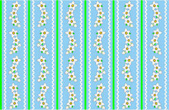 Vector Eps10 Seamless Blue Wallpaper Design with W Royalty Free Stock Image