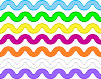 Free Vector Eps8 Ric Rac In 7 Colors Royalty Free Stock Image - 14888246