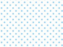 Vector Eps8  White Background with Blue Polka Dots.  Royalty Free Stock Photo