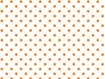Vector Eps8  White Background with Orange Polka Do Stock Photo