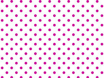 Vector Eps8  White Background with Pink Polka Dots Stock Photography