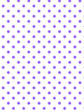 Vector Eps8 White Background with Purple Polka Dot. S Royalty Free Stock Photography