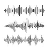 Vector equaliser set black and white  Royalty Free Stock Photo