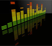 The vector equalizer abstract background vector illustration