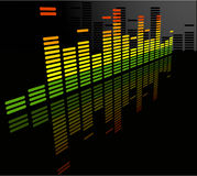 The vector equalizer abstract background. Eps 8 stock illustration