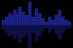 Vector Equalizer with background royalty free illustration